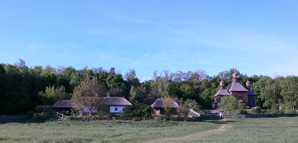 Typical Ukrainan farmhouses