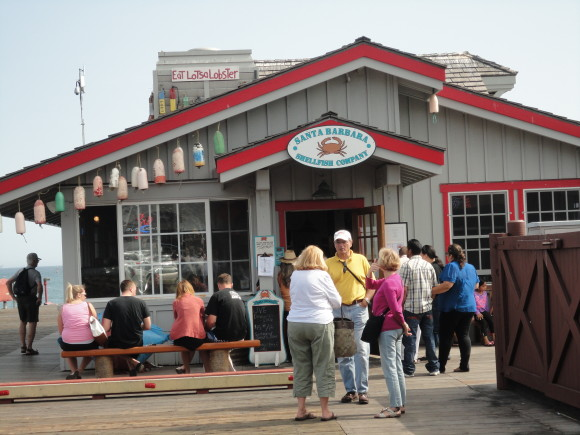 Stearn's wharf restaurants are plenty