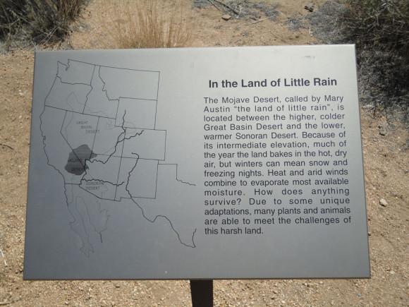 """It's the """"Land of Little Rain"""""""