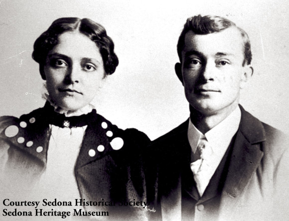 The Mother of Sedona; Sedona Arabella Miller Schnebly with her husband Theodore