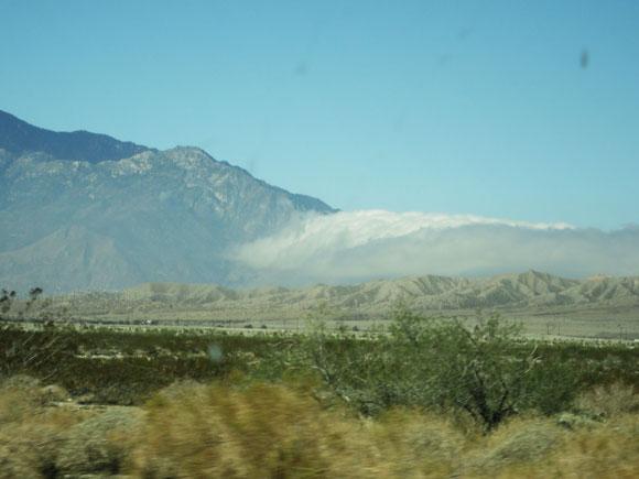Desert fog outside Palm Springs