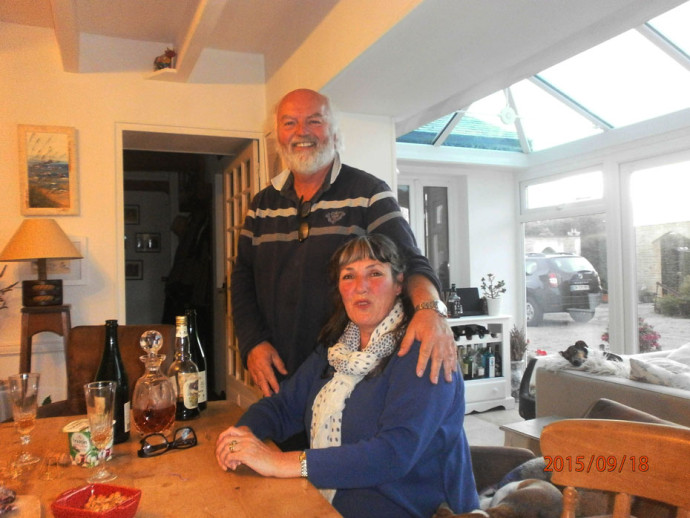 Tansy Forster with husband Mike. The perfect Host