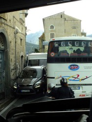 An Amalfi drivers nightmare