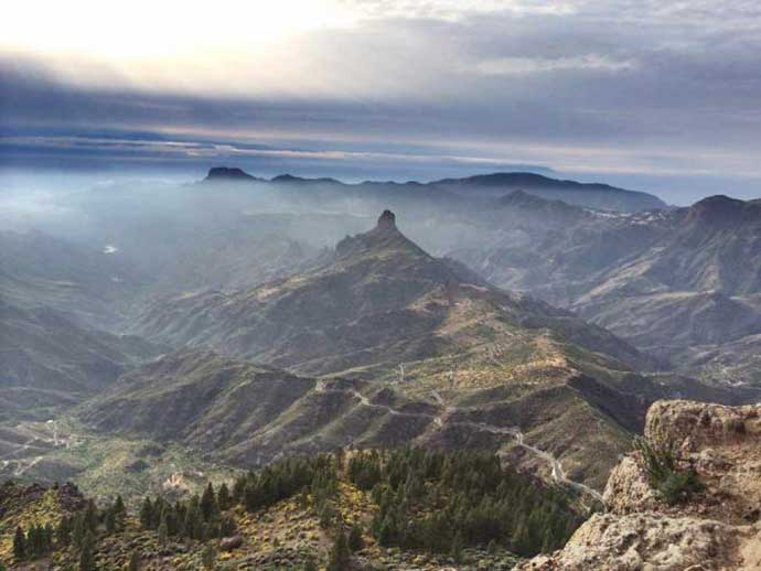 A spectacular view from El Roque Nublo