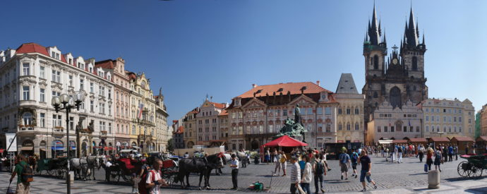 The Old Town Square - the main tourist trap of Prague