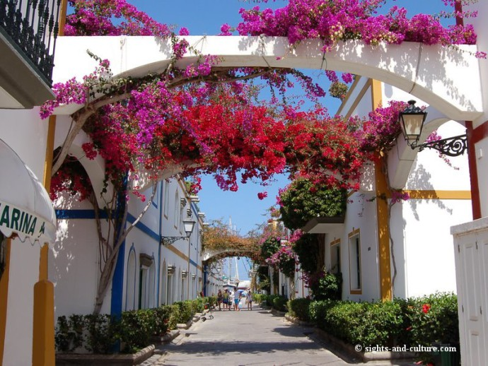 The Streets of Puerto de Mogan