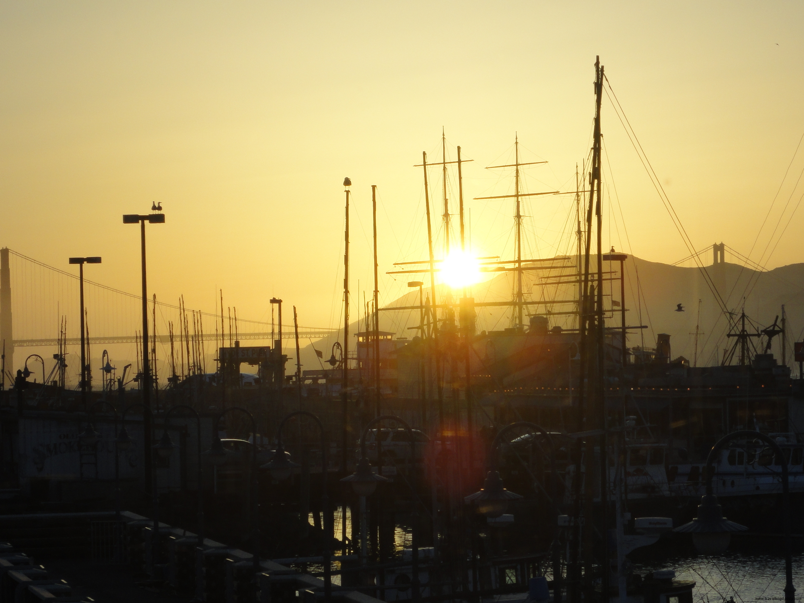 Sunset at Fishermans Wharf, San Franisco
