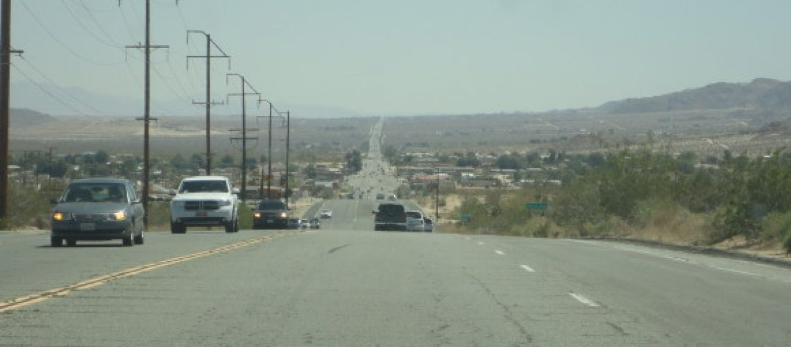 That is one straight Road, Yucca Valley