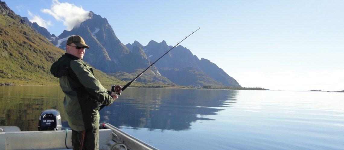 Fishing in beautiful weather