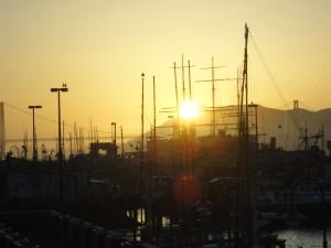 Sunset at Fishermans Wharf, San Franisco